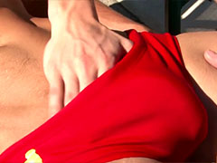 Red Speedo Blowjob